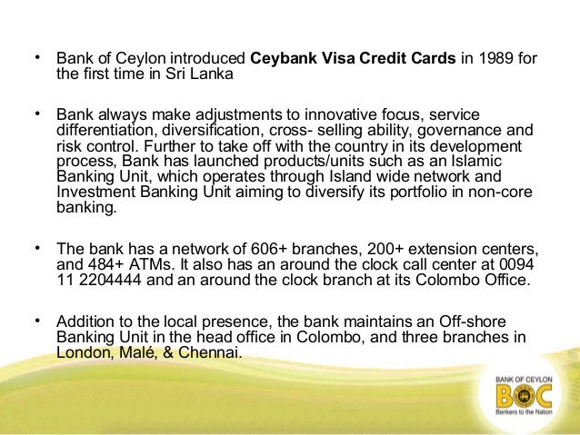 Bank of ceylon Strategy Analysis
