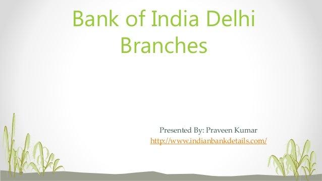 bank of india branch delhi ncr