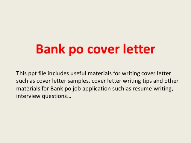 Letter writing services bank po