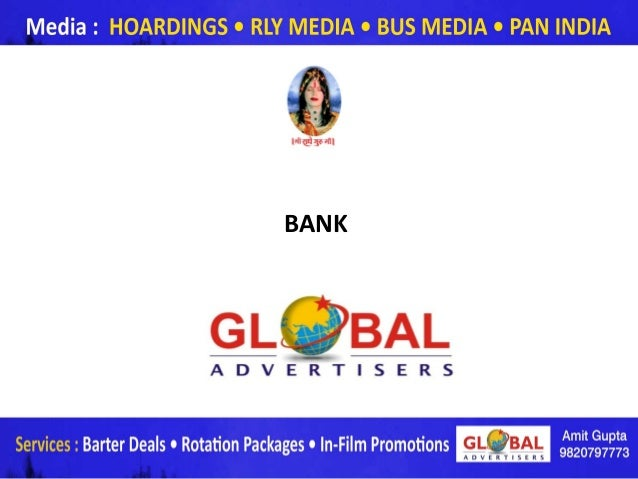 BANK       www.globaladvertisers.in