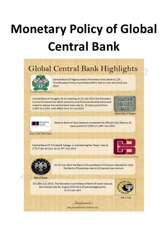 Monetary Policy of Global Central Bank