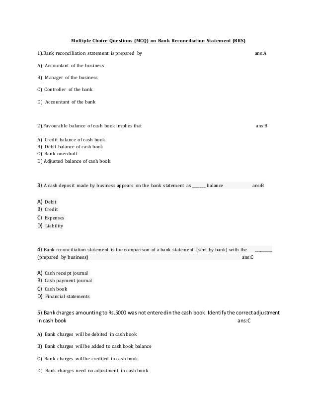... Reconciliation; 7.  Bank Reconciliation Statement Template
