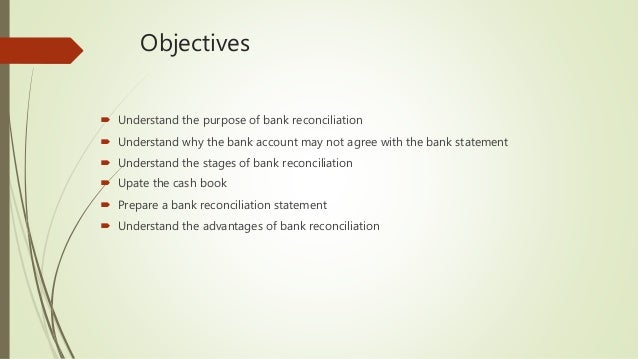 Bank Reconciliation Statements Chap  Th For Moodle