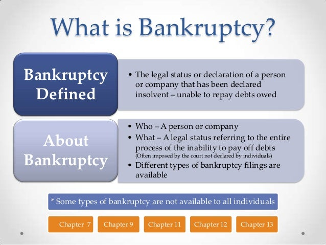 Organization Tips For Work A Guide To Bankruptcy Facts
