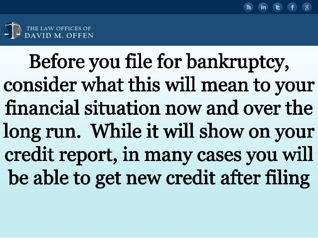 Bankruptcy and Your Credit Report in Philadelphia Slide 2