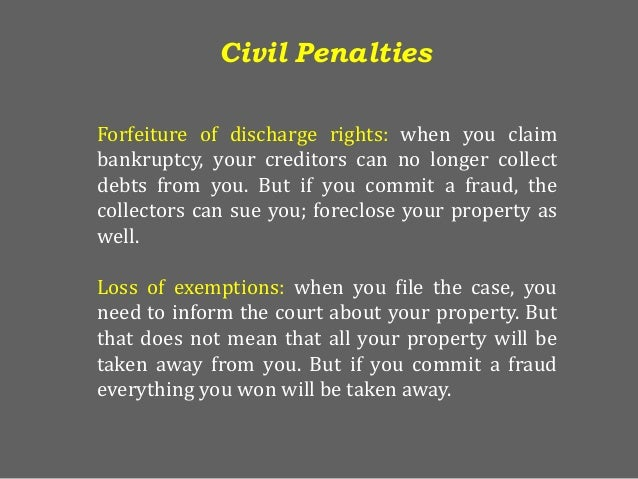 bankruptcy fraud Los angeles is the nation's hub for bankruptcy crime  those breaking the law,  and helps publish reports on the scale of potential fraud.