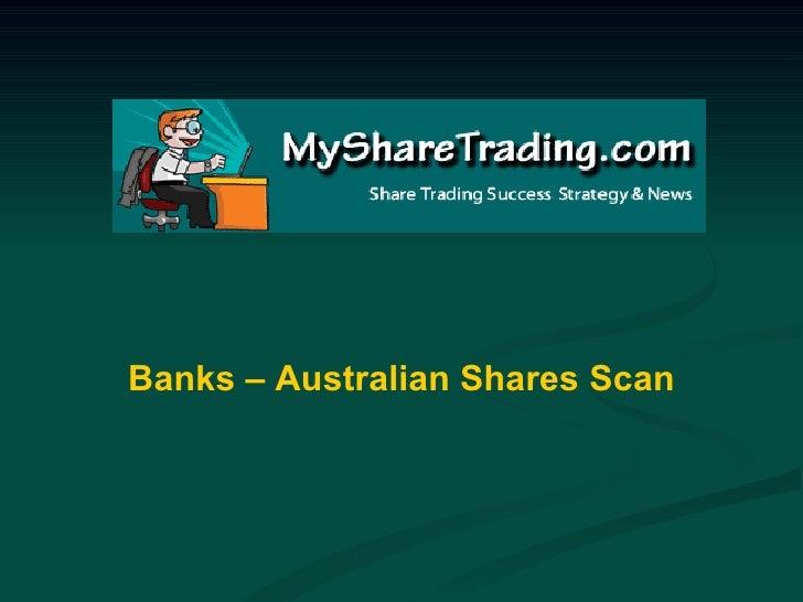 Banks – Australian Shares Scan