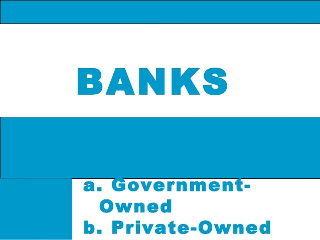 BANKS a. GovernmentOwned b. Private-Owned