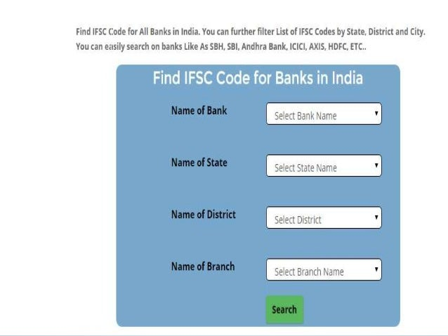 IFSC code: Find IFSC codes, MICR codes and all Banks ...