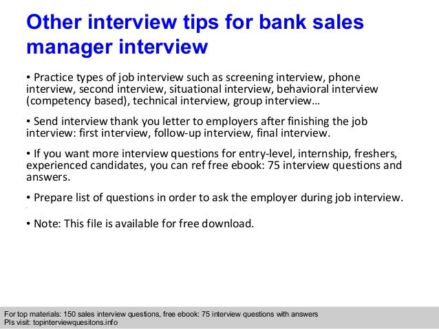 sales manager interview - Template