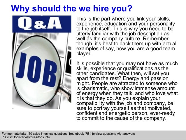 interview questions for sales position