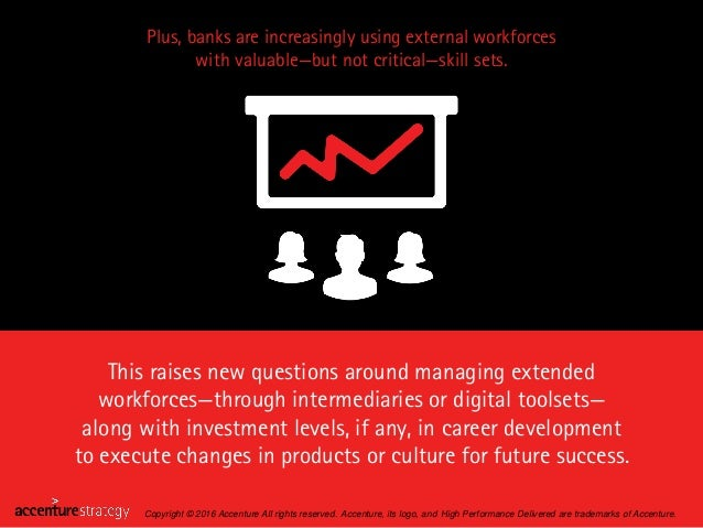 Plus, banks are increasingly using external workforces with valuable—but not critical—skill sets. This raises new question...