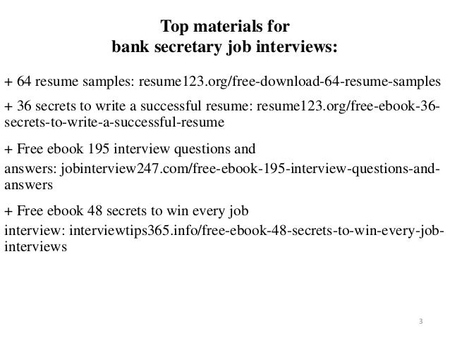 Bank secretary resume sample pdf ebook free download