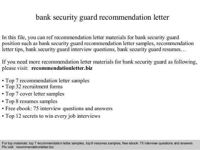 interview questions and answers free download pdf and ppt file bank security guard recommendation - Security Guard Reference Letter
