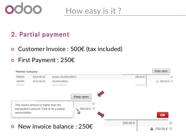 Odoo Easily Reconcile Your Invoices Payments With The Brand New B - Open invoice statement