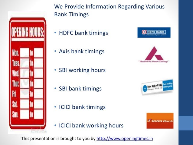 hdfc bank opening timings