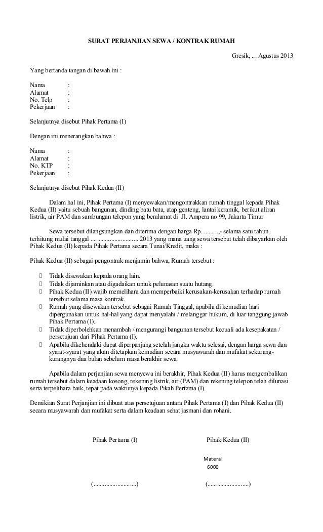 Bank Suratcom Perjanjian Sewa Rumah