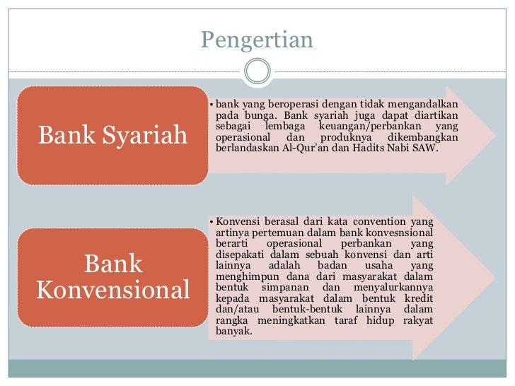 Bank Syari Ah Vs Bank Konvensional