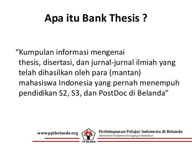 Bank dissertation