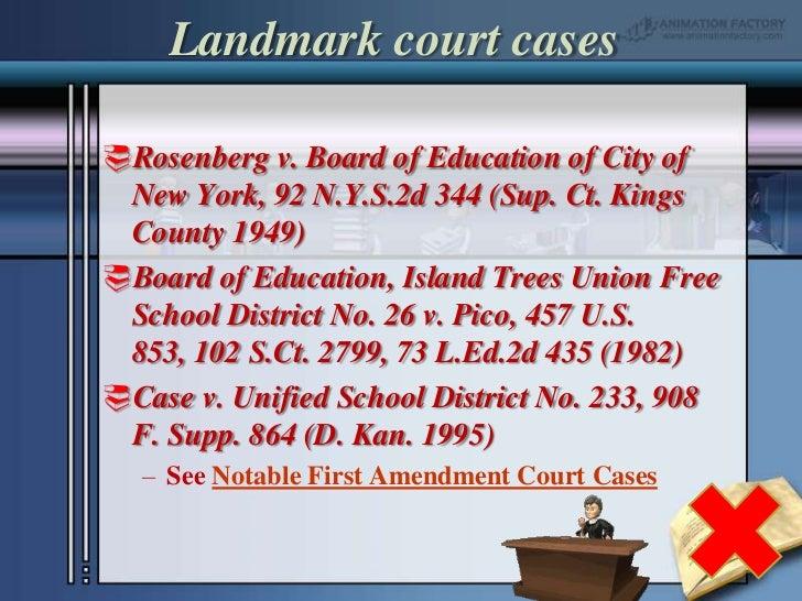 Notable First Amendment Court Cases
