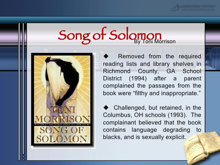 song solomon toni morrison essays Song of solomon by toni morrison in doc, epub a childrens book, and copious nonfiction, including essays songsolomonepub.