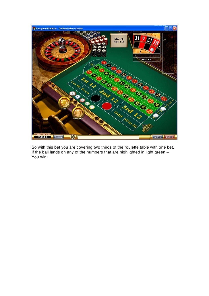 Betting two thirds roulette