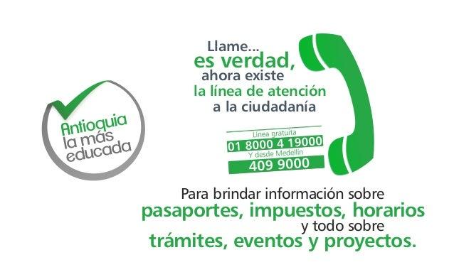 Llame... es verdad, ahora existe la línea de atención a la ciudadanía pasaportes, impuestos, horarios Para brindar informa...