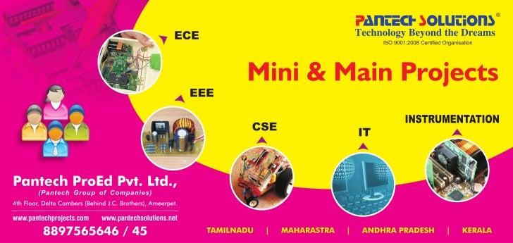 Mini & Main Projects @ Pantech Proed Pvt Ltd