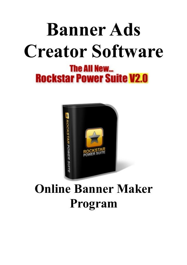 banner ads creator software  online banner maker program