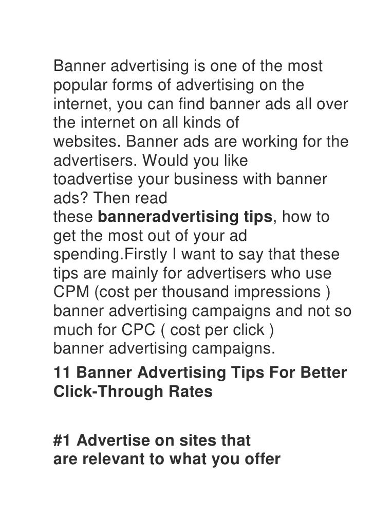 Banner advertising is one of the mostpopular forms of advertising on theinternet, you can find banner ads all overthe inte...