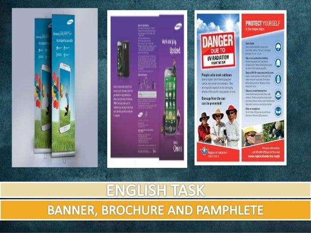 Bahasa Inggris Banner Brochure And Pamphlete