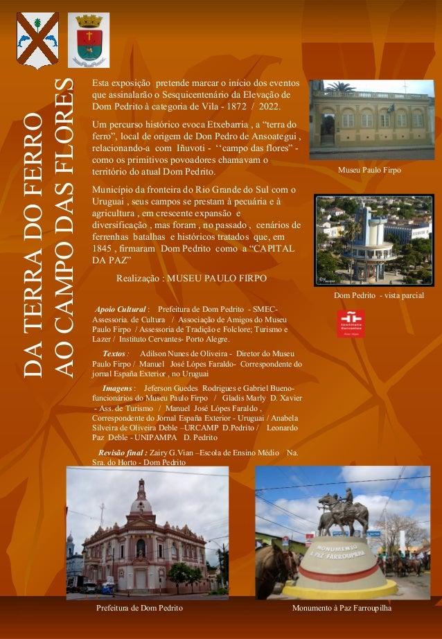 AO CAMPO DAS FLORES                      Esta exposição pretende marcar o início dos eventos                      que assi...
