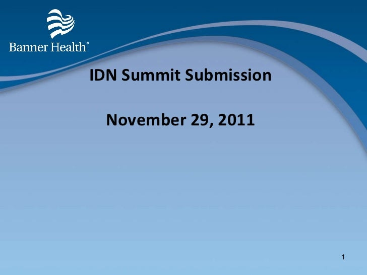 IDN Summit Submission November 29, 2011