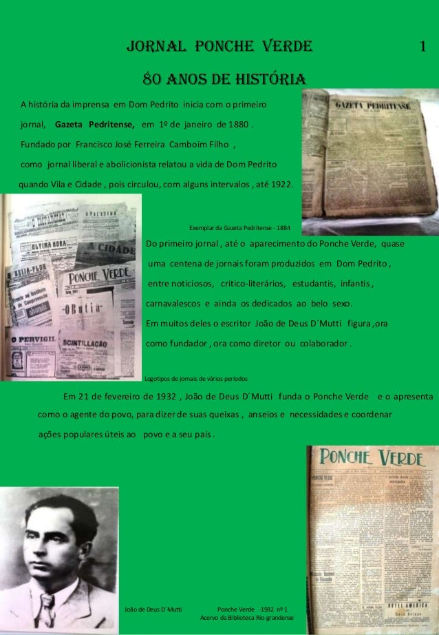 Jornal PONCHE VERde                                                     1                                 80 ANOS DE HISTÓ...