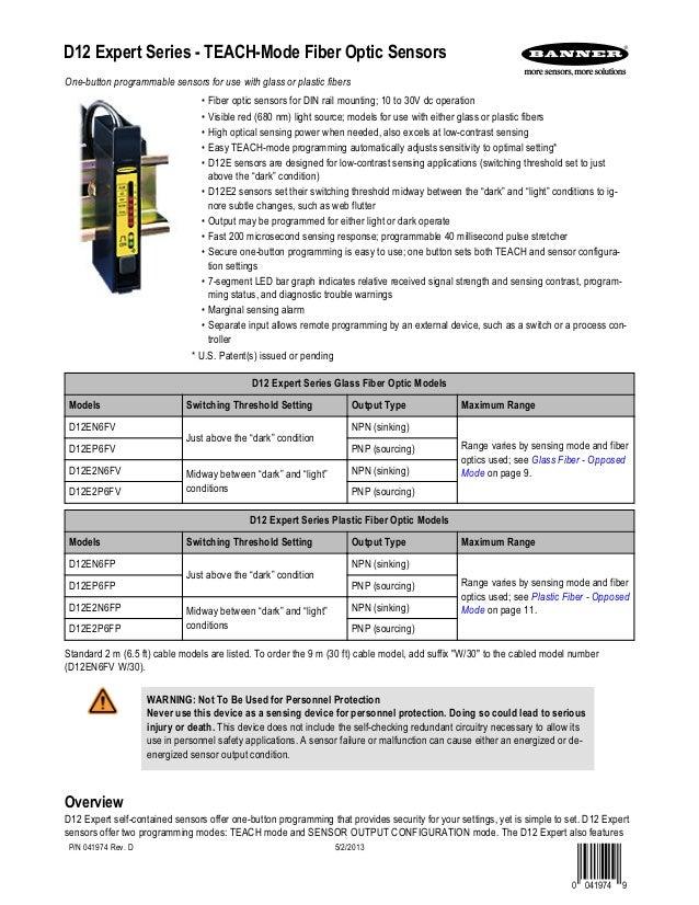 Banner sensors fiber