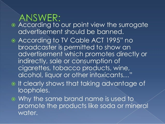 why should alcohol advertising be banned from television