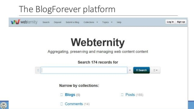 of 63 The BlogForever platform 47WEB CRAWLING, ANALYSIS AND ARCHIVING - PHD DEFENSE