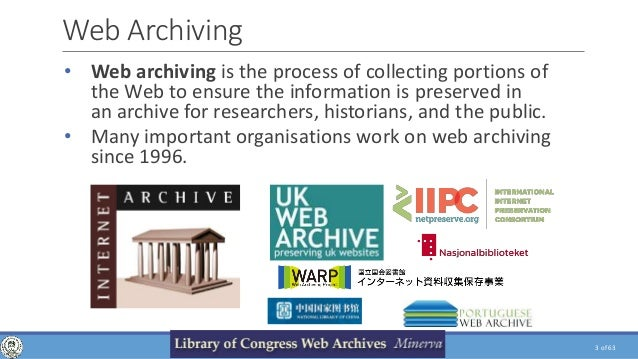 Web Crawling, Analysis and Archiving. PhD Presentation Slide 3