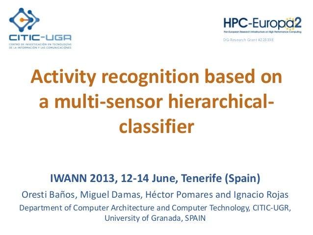 Activity recognition based on a multi-sensor hierarchical- classifier IWANN 2013, 12-14 June, Tenerife (Spain) Oresti Baño...