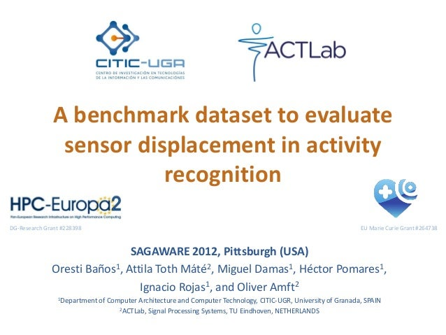 A benchmark dataset to evaluate sensor displacement in activity recognition SAGAWARE 2012, Pittsburgh (USA) Oresti Baños1,...