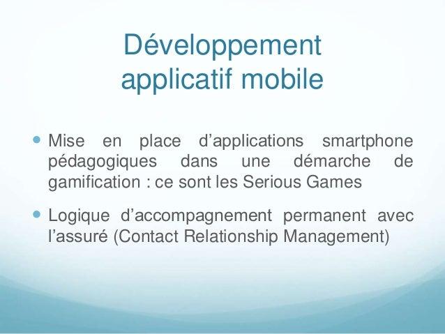 Développement applicatif mobile  Mise en place d'applications smartphone pédagogiques dans une démarche de gamification :...