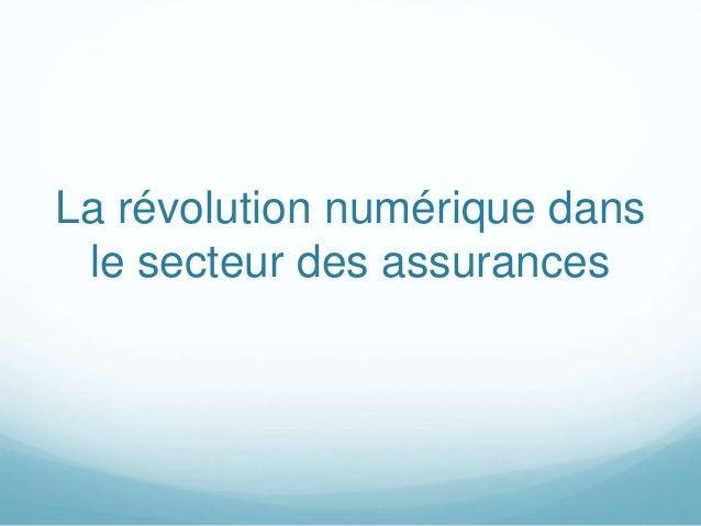 La révolution numérique dans le secteur des assurances