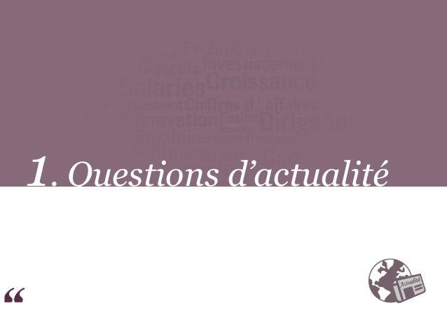 1. Questions d'actualité