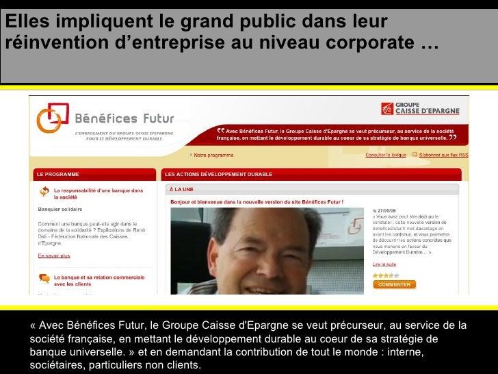 Elles impliquent le grand public dans leur réinvention d'entreprise au niveau corporate … « Avec Bénéfices Futur, le Group...