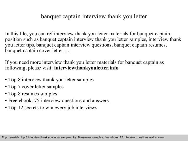 Banquet captain banquet captain interview thank you letter in this file you can ref interview thank you interview thank you letter sample altavistaventures Image collections