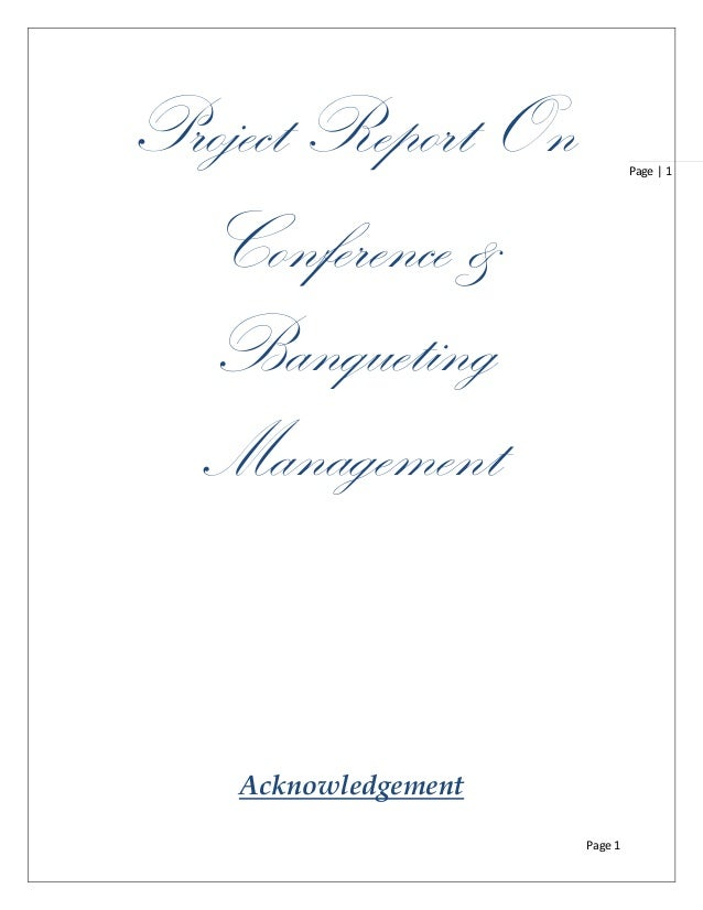 Banqueting and conference management pgdhm