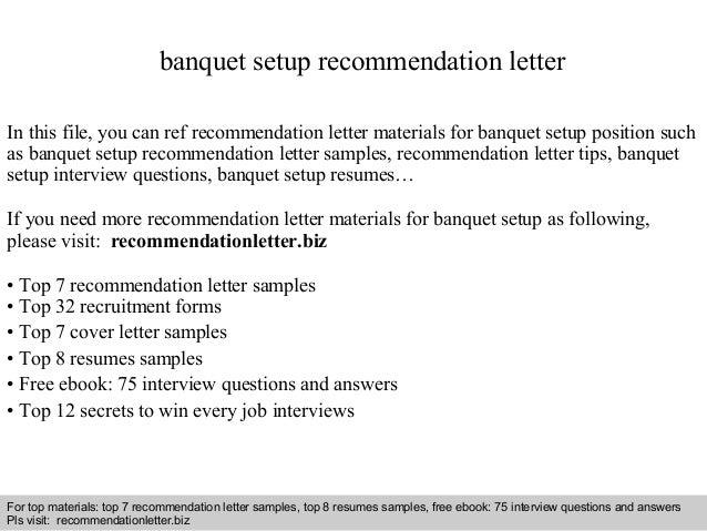 Banquet Set Up Resume. 12 server resume samples riez sample ...
