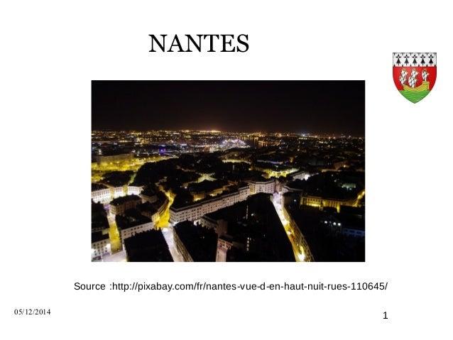 NANTES  Source :http://pixabay.com/fr/nantes-vue-d-en-haut-nuit-rues-110645/  05/12/2014 1