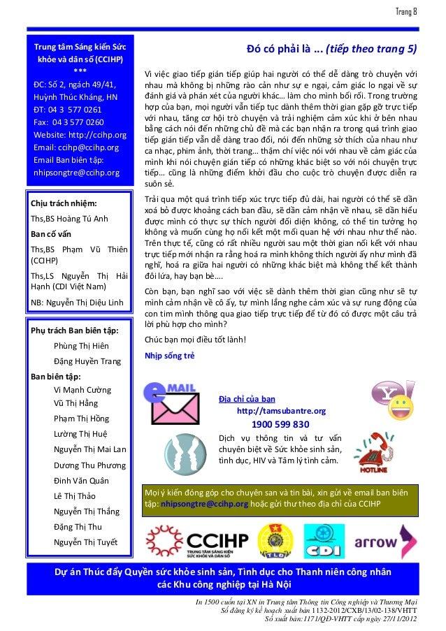 Trang 8Trung tâm Sáng kiến Sức                                    Đó có phải là ... (tiếp theo trang 5) khỏe và dân số (CC...