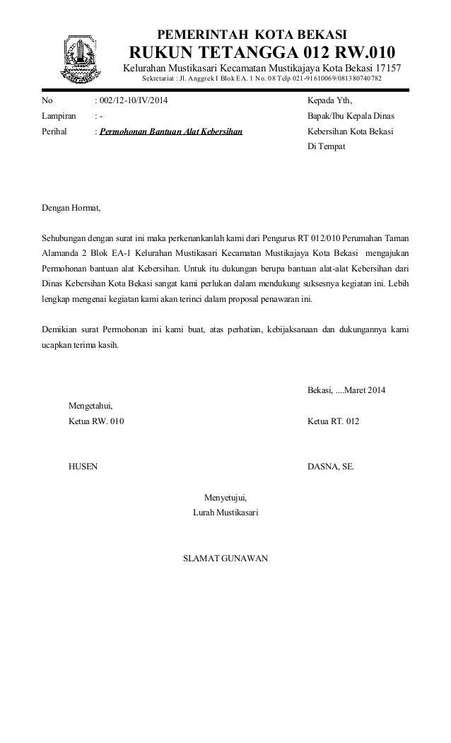 Contoh Surat Himbauan Kebersihan